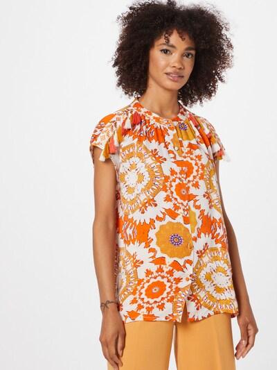 Derhy Bluse 'BOUVREUIL' in orange / dunkelorange / weiß, Modelansicht