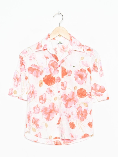 LACOSTE Blumenbluse in S-M in pastellpink, Produktansicht