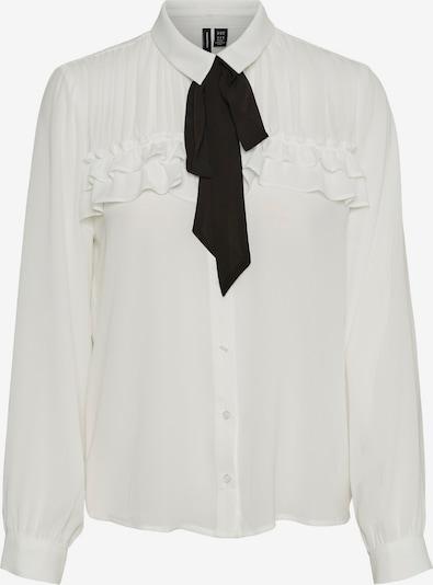 VERO MODA Bluse in schwarz / naturweiß, Produktansicht