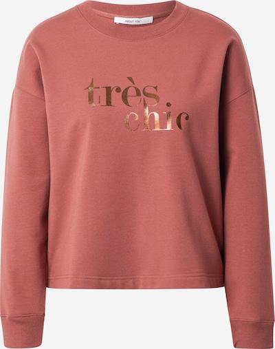 ABOUT YOU Sweatshirt 'Samira' in altrosa, Produktansicht