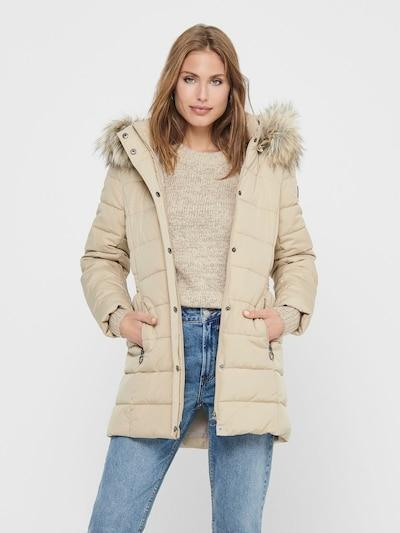 ONLY Winter Coat 'Luna' in Cream, View model