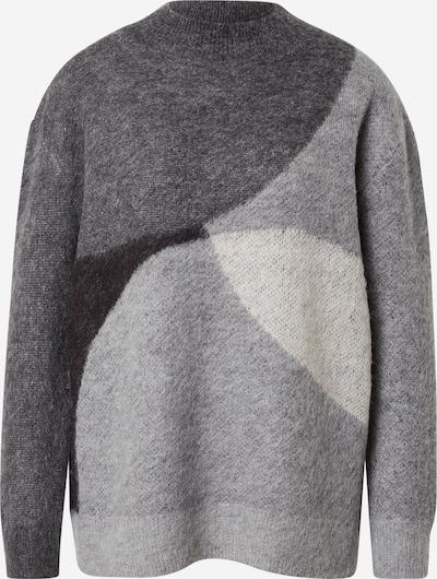 Cartoon Sweater in Dark grey / mottled grey / White, Item view