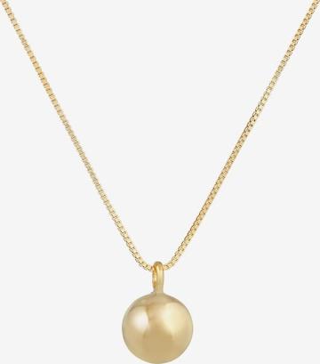 ELLI PREMIUM Halskette Kugel in Gold
