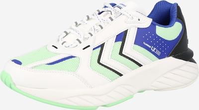 Hummel Sneaker in blau / grün / weiß, Produktansicht