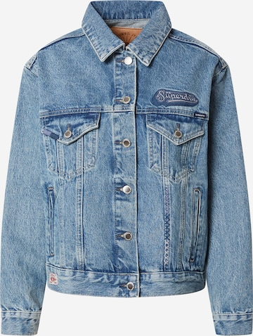 Superdry Between-Season Jacket 'BOYFRIEND' in Blue