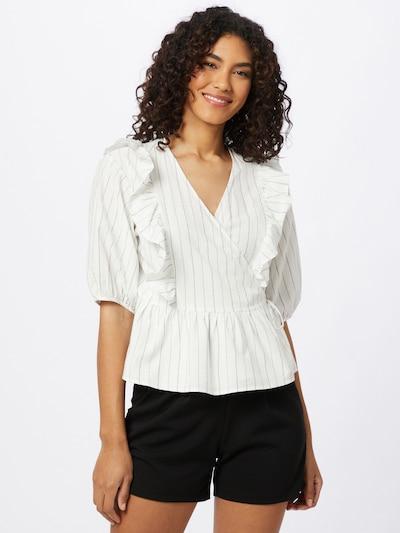 Soft Rebels Bluse 'Vickie' in grau / weiß, Modelansicht