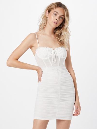 Rochie de cocktail 'LA MODE' Love Triangle pe alb, Vizualizare model