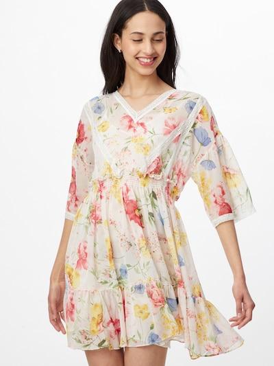 Rochie de vară Twinset pe culoarea pielii / albastru fumuriu / galben / mai multe culori / alb, Vizualizare model