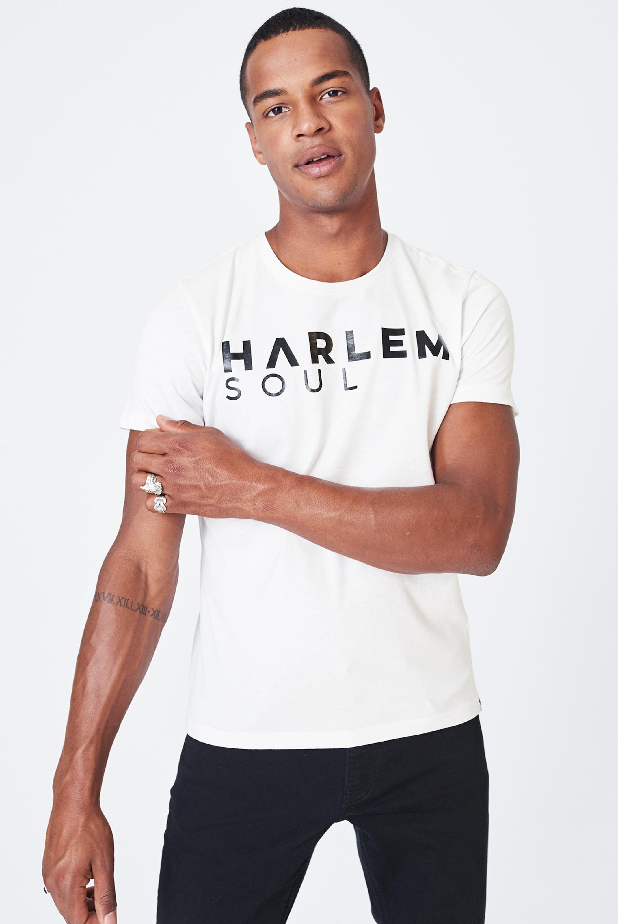 Harlem Soul T-Shirt in weiß Jersey I00045232WHI0001L