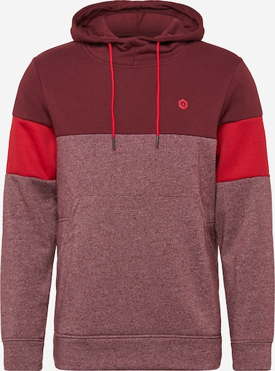 JACK & JONES Sweatshirt 'MART' in weinrot / hellrot / rotmeliert, Produktansicht