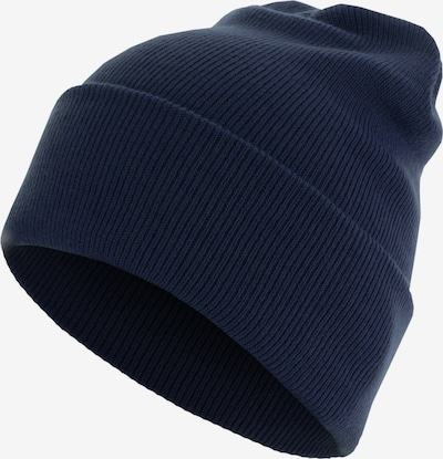 MSTRDS Mütze 'Beanie Basic Flap Long' in blau, Produktansicht