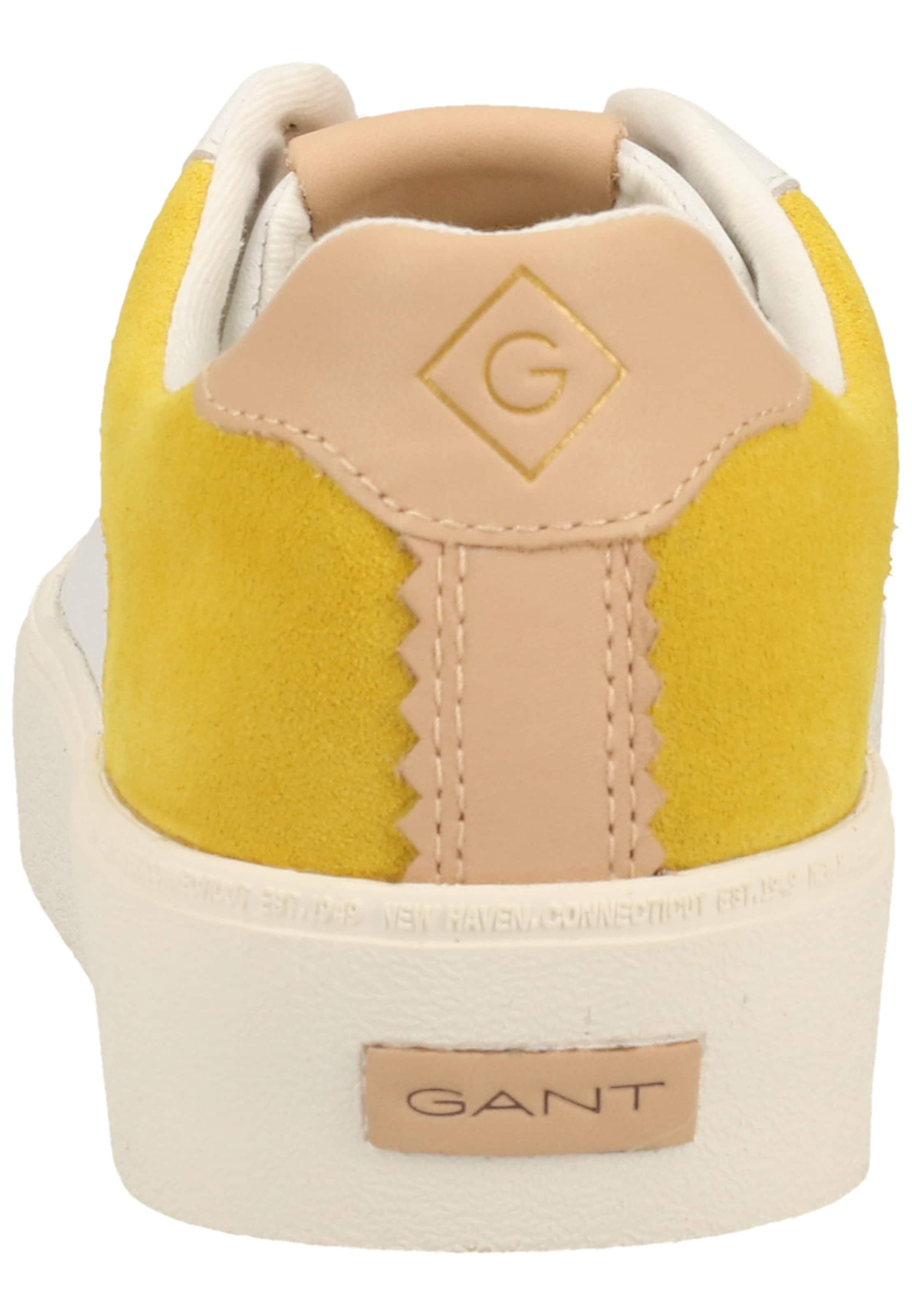 GANT Sneakers laag in Geel / Rosé / Wit Leer 031701300022380