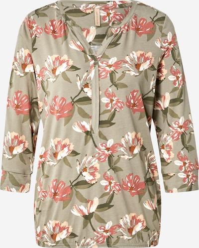 Soyaconcept Shirt 'FELICITY' in oliv / dunkelorange / puder / altrosa / weiß, Produktansicht