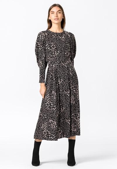 HALLHUBER Kleid in grau / schwarz / weiß, Modelansicht
