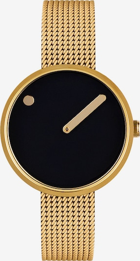 Picto Uhr in goldgelb / schwarz, Produktansicht