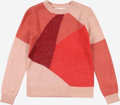 KIDS ONLY Pull-over 'MARCIL' en rose / rouge / rouge clair / rouge foncé, Vue avec produit