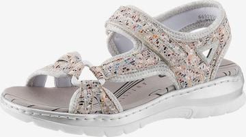 RIEKER Hiking Sandals in Grey