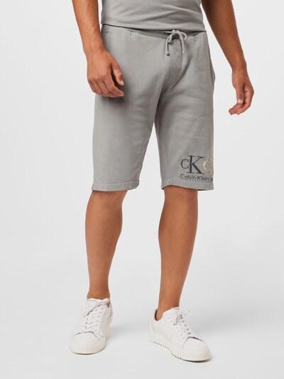 Calvin Klein Jeans Nohavice '90'S DOUBLE MONOGRAM HWK SHORT' - sivá, Model/-ka