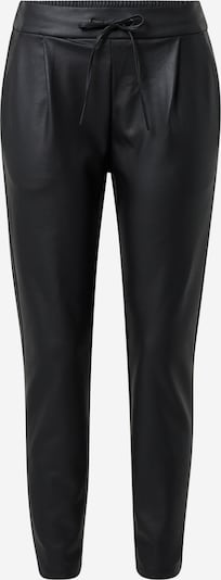 VERO MODA Kunstlederhose 'VMEVA MR LOOSE STRING COATED PANT' in schwarz, Produktansicht
