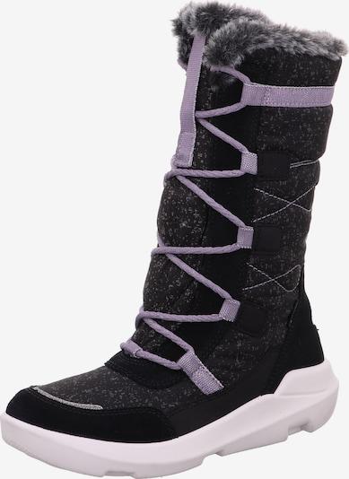 SUPERFIT Botas de nieve 'Twilight' en gris moteado / lila pastel / negro, Vista del producto