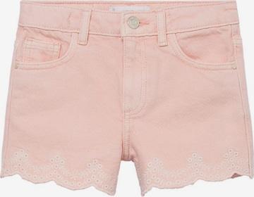 MANGO KIDS Jeans 'Berta' i rosa