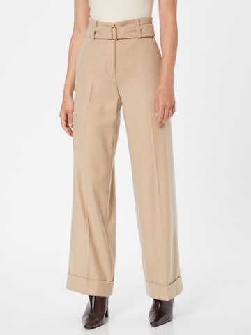 Riani Trousers with creases '183375-3921' in Beige