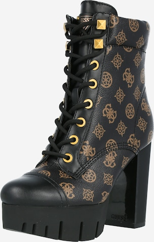 GUESS Lace-up bootie in Black