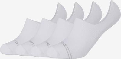 MUSTANG Füßlinge in grau / weiß, Produktansicht