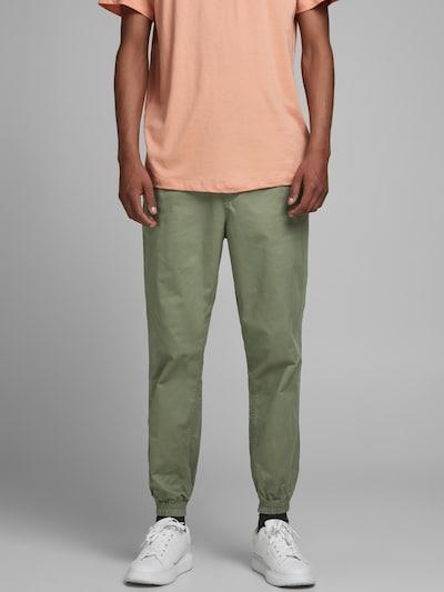JACK & JONES Pantalon en olive, Vue avec modèle