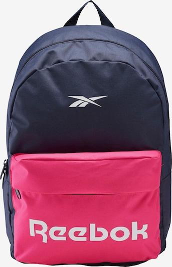 REEBOK Sac à dos de sport en bleu marine / rose / blanc, Vue avec produit