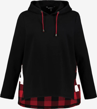 Ulla Popken Sweat-shirt en rouge / noir, Vue avec produit