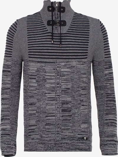 CIPO & BAXX Pullover in anthrazit / graumeliert, Produktansicht