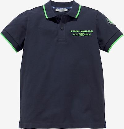 Tom Tailor Polo Team Poloshirt in marine / limette, Produktansicht