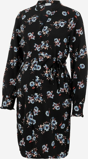 MAMALICIOUS Umstandskleid in rauchblau / rot / schwarz / weiß, Produktansicht