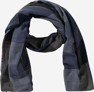 CAMEL ACTIVE Schal in taubenblau / dunkelblau / anthrazit / hellgrau, Produktansicht