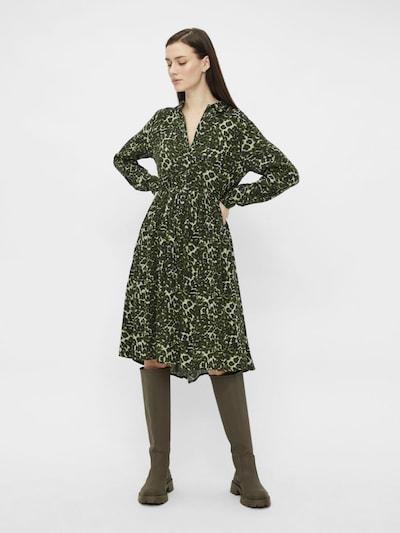 PIECES Kleid in grün / schwarz, Modelansicht