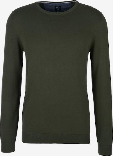 s.Oliver Pullover in dunkelgrün, Produktansicht