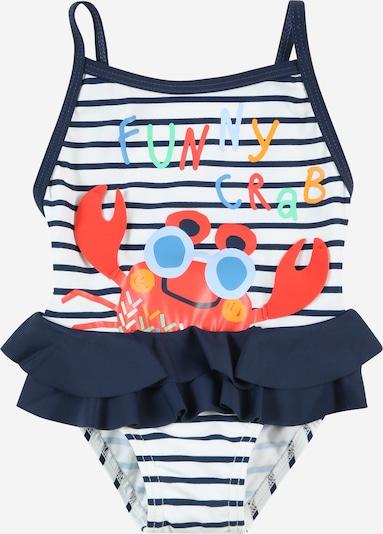 Boboli Maillot de bain en bleu marine / mélange de couleurs / corail / rouge clair / blanc, Vue avec produit