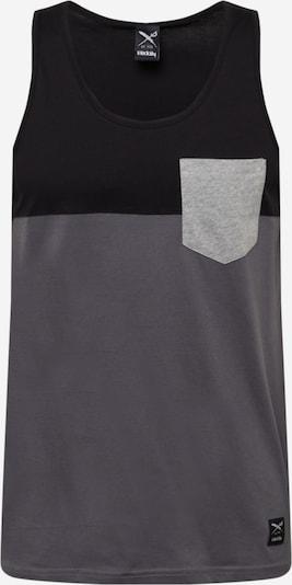 Iriedaily Top in silbergrau / hellgrau / schwarz, Produktansicht