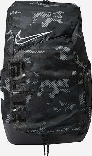 NIKE Sportrucksack 'Elite Pro' in grau / schwarz / weiß, Produktansicht