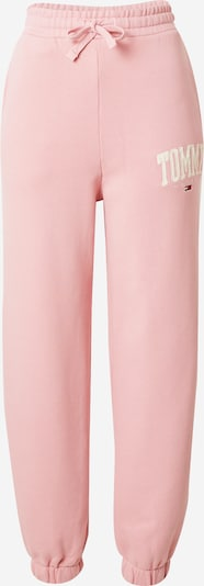 Tommy Jeans Trousers 'ABO' in Light pink / White, Item view