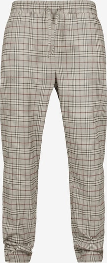 Urban Classics Männer 'Tapered Check Jogger Pants' in beige, Produktansicht