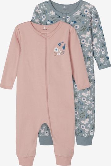 NAME IT Schlafanzug in navy / grau / mauve / altrosa / weiß, Produktansicht