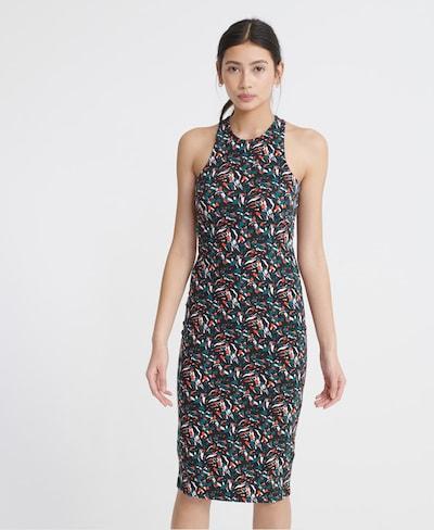 Superdry Sommerkleid in jade / mischfarben / hummer / schwarz / weiß, Modelansicht