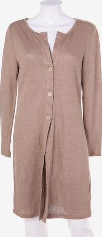 HESSNATUR Sweater & Cardigan in S-M in Brown