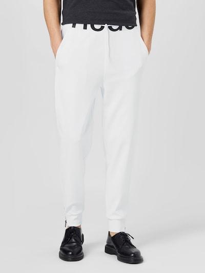 HUGO Trousers 'DUROS211' in black / white, View model