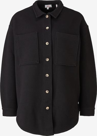 s.Oliver Übergangsjacke in schwarz, Produktansicht
