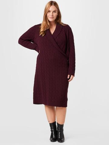 Lauren Ralph Lauren Gebreide jurk 'MADASKA' in Rood