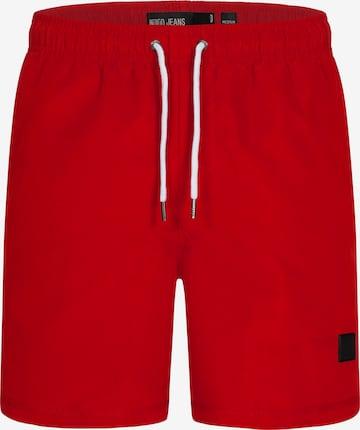 Shorts de bain INDICODE JEANS en rouge