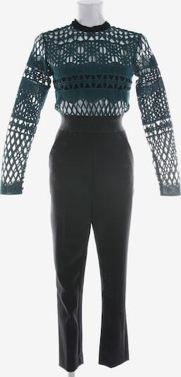 self-portrait Jumpsuit in XS in petrol / schwarz, Produktansicht